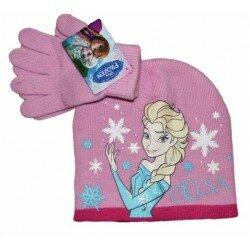 Disney Frozen Frost set mössa och vantar - ljusrosa