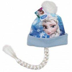 Disney Frozen Frost Bolltofs mössa med fläta - Elsa motiv