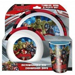 Marvel Avengers - Måltids set i 3 delar, Hulken Iron man mfl