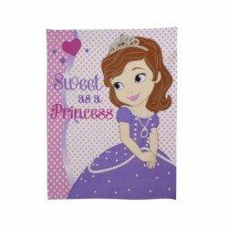 Prinsessan Sofia filt Fleecefilt