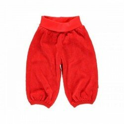Fixoni Velour baby byxa röd