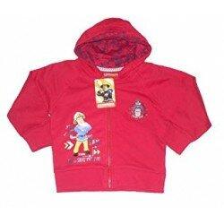 Brandman Sam, Fireman Sam röd Zip Cardigan tröja huvtröja