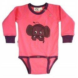 JNY body med elefant motiv, rosa