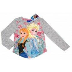 Disney Frozen Frost Tröja med Elsa och Anna - gråmelange