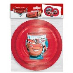 Disney Cars Måltids set tallrikar och mugg 3 delar