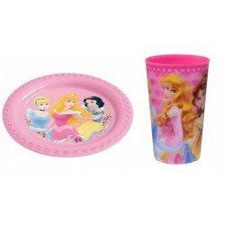 Disney Princess Måltids set tallrik och mugg - 3D
