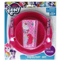 My little Pony - Måltids set i 5 delar, tallrik, skål, mugg,bestick